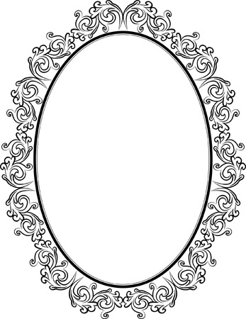 vintage frame with ornaments