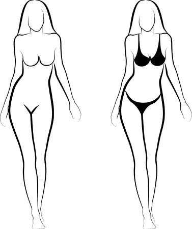 corps femme nue: esquisse d'une femme nue