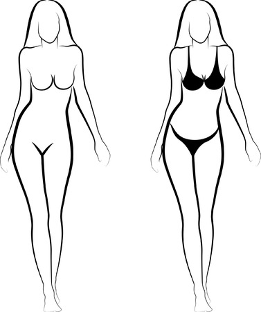 naked female body: sketch of a naked woman