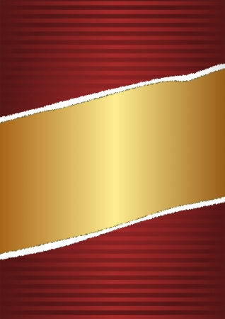 red and gold background with striped pattern Vector