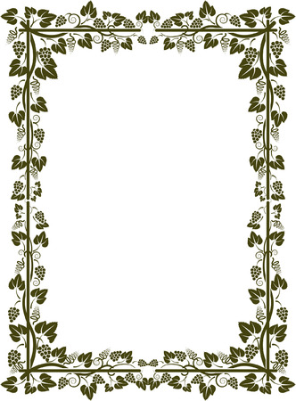 silhouette of vine frame  Stock Vector - 22440372