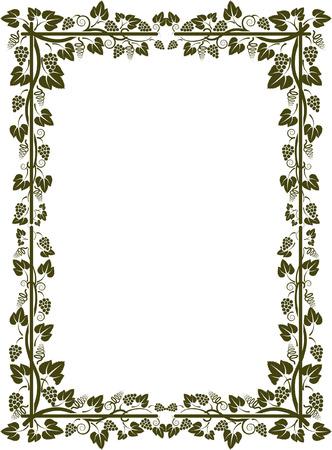 grapevine: silhouette of vine frame