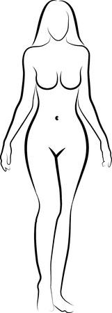 croquis de femme nue