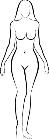 mujeres negras desnudas: dibujo de una mujer desnuda
