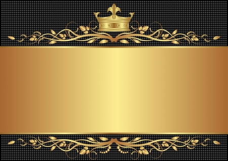 royal black background with golden crown Vector