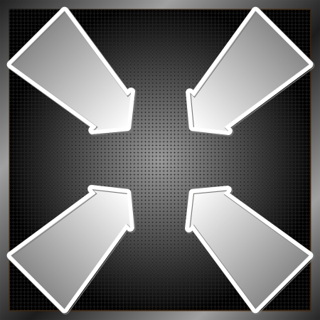dark panel with five four arrows Vector