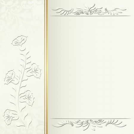 ecru: ecru background for invitation Illustration
