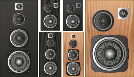 set of isolated speakers Illustration