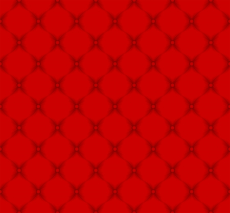 red pattern seamless - quilted fabric Vector