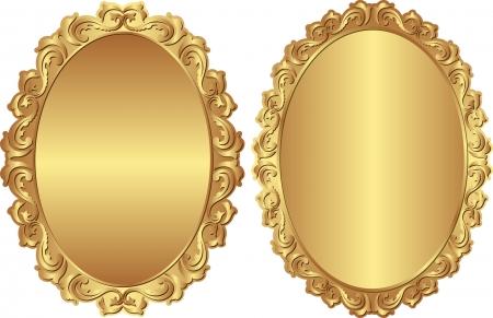 golden frames: vintage golden frames Illustration