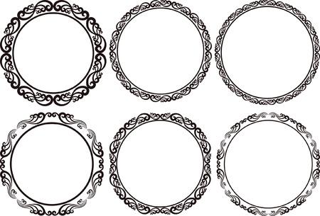 verschnörkelt: Satz von Runde Rahmen - Design-Elemente Illustration