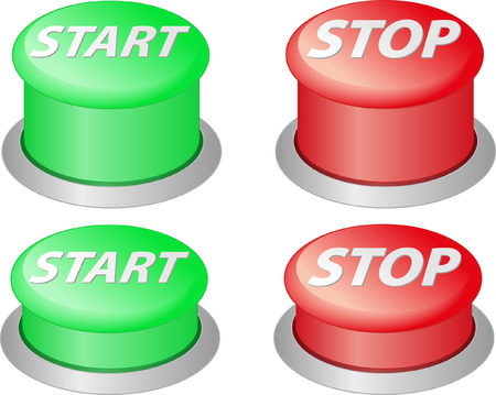 red and green stop and start buttons
