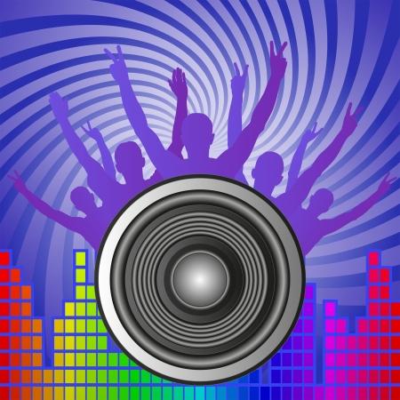 musik hintergrund: Musik Hintergrund mit Lautsprecher