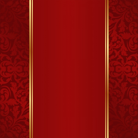 claret red: dark red background with golden ornaments