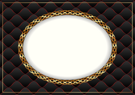 black gold background with vintage frame Vector
