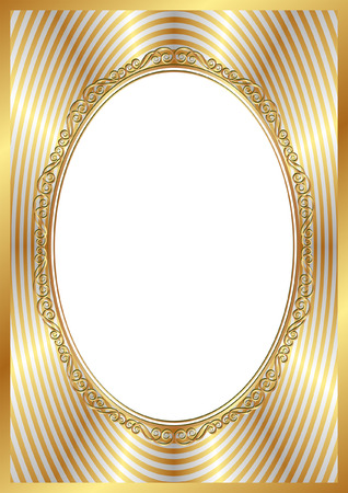 golden frame with transparent space insert for picture Vector