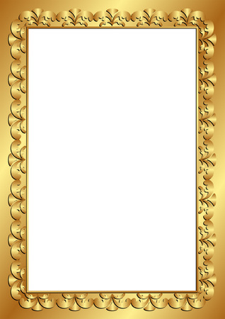 shone: golden frame with transparent space insert Illustration