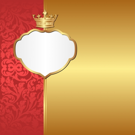 vintage background with crown Vector