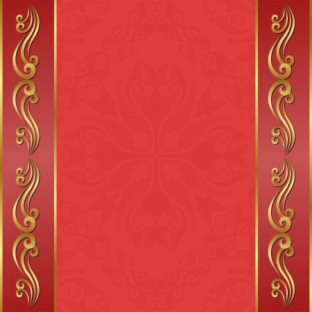 brushed gold: vintage background with golden ornaments