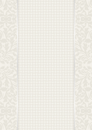 linen texture: vintage background with ornaments and linen texture Illustration