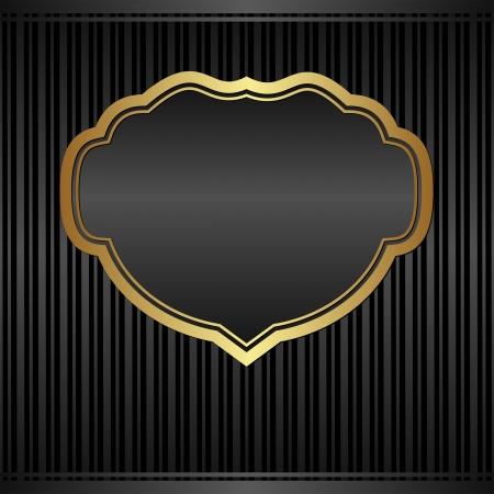 black with vintage frame Stock Vector - 24206371