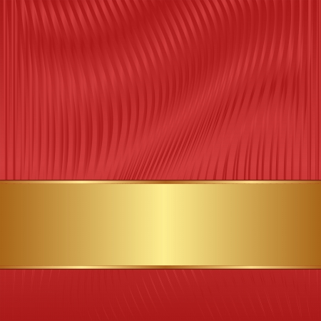 golden border: red wavy background with golden tape
