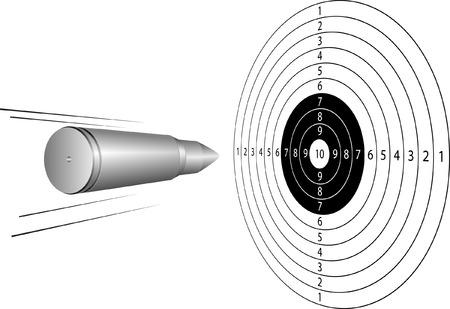 sharpshooter: bullet on target sport Illustration