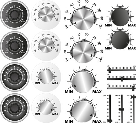 set of isolated potentiometers Vector