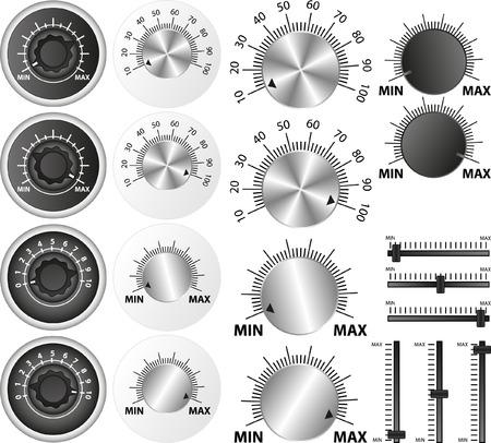 set van geïsoleerde potentiometers