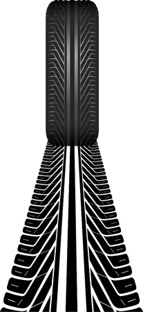 motorized: tire and receding tire track