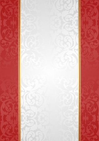 white red background with ornaments Vector