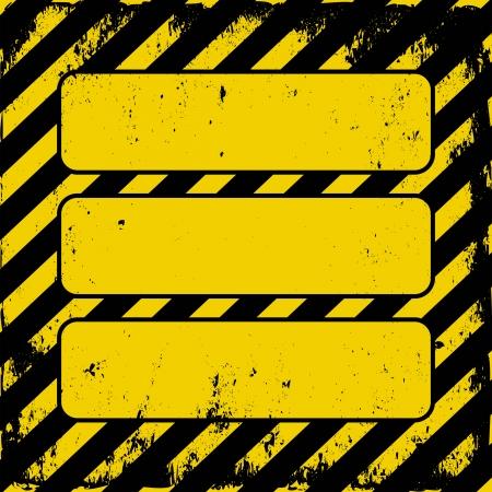 yellow-black grunge danger sign Vector