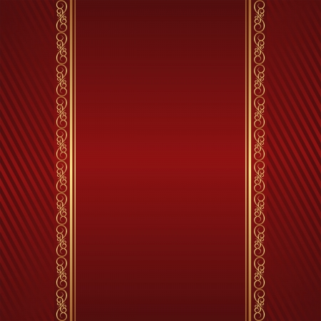 rojo oscuro: de color rojo oscuro con adornos de oro