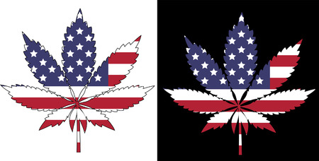 Marijuana American Flag Vector