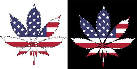 rastafarian: Marijuana American Flag
