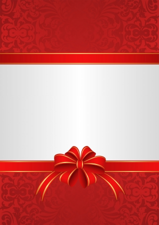 white red with ribbons and bow Vector