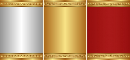 bordi decorativi: set di sfondo vintage con bordi decorativi