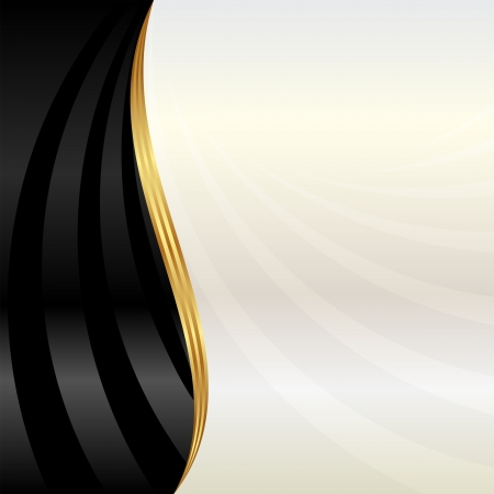 arts abstract: black and pearl background Illustration