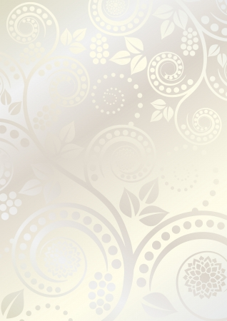 light  glossy: light glossy background with floral ornaments
