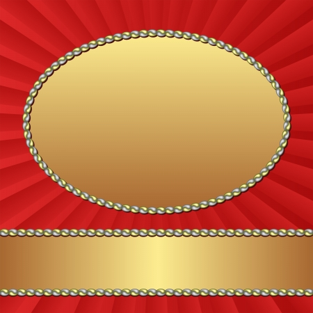 golden frames: red background with golden frames