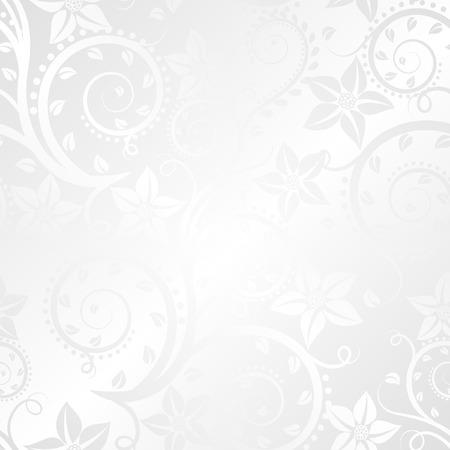 weiß glänzend Hintergrund floralen Ornamenten