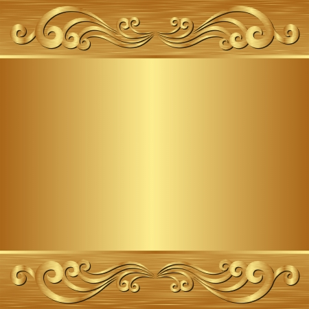 golden background with ornaments Illustration