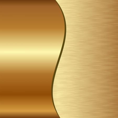 metallic texture: golden background divided into two - scratched and polished