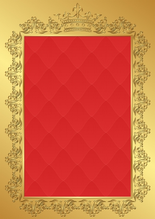 regal: royal background with vintage frame