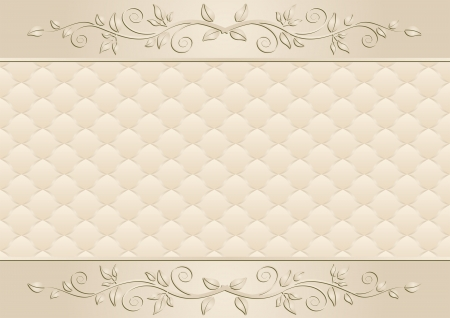 ecru: beige with floral ornaments