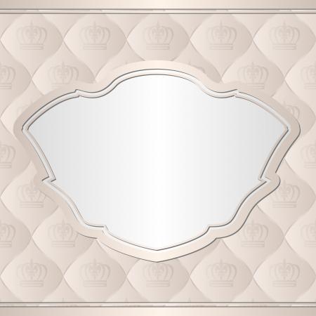 ecru: beige with vintage frame