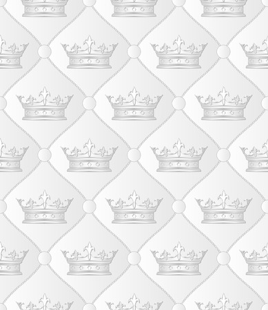 white pattern seamless with crowns Vector