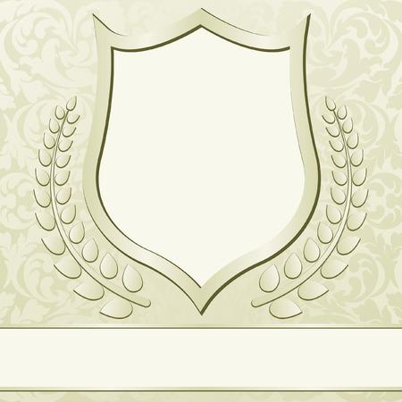 ecru: beige background with vintage frame ornaments