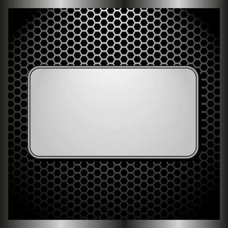tread plate: dark panel with light banner