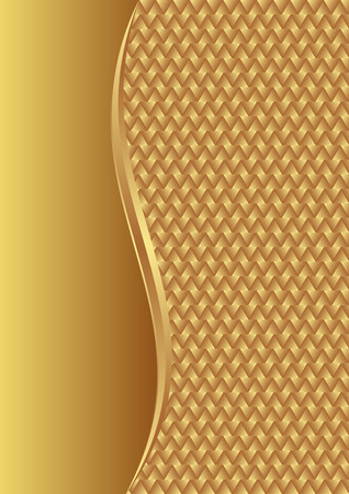 gold plaque: golden background with braid texture